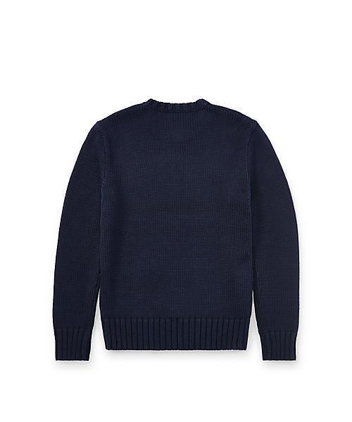Polo Ralph Lauren Childrenswear(ポロラルフローレンチャイルドウェア)の「フラッグ コットン クルーネック セーター(ニット/セーター)」|詳細画像