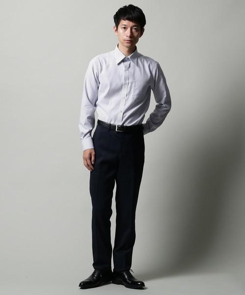 【抗菌防臭】ハニカムストライプシャツ