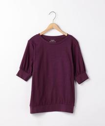 起毛スラブ5分袖Tシャツ