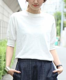 coen(コーエン)の起毛スラブ5分袖Tシャツ(Tシャツ/カットソー)
