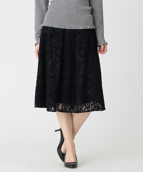 【激安アウトレット!】 モールフラワーラッセルスカート, one plate LuLu f323903d