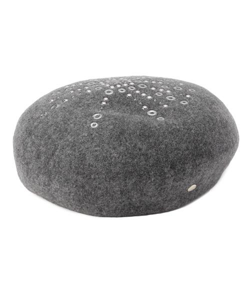 ベレー帽 【メタル付きバスク】
