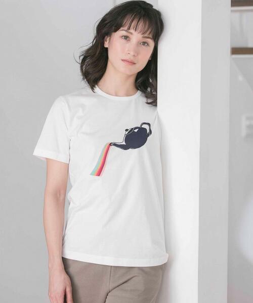 Paul Smith(ポールスミス)の「【LOUNGEWEAR】アートTシャツ(ルームウェア/パジャマ)」|ホワイト系4