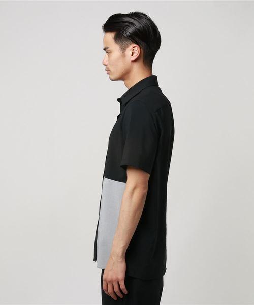 バイカラーストレッチシャツ