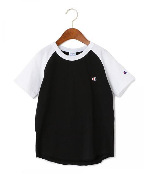 【ジュニア】〔別注〕CHAMPION(チャンピオン) バイカラーラグラン Tシャツ