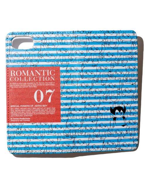ブランK(ブランク)の「SwimmyDesignLab × ブランK 「ROMANTIC COLLECTION」手塚プロダクション手帳ケースiPhone7/8(モバイルケース/カバー)」|ブルー
