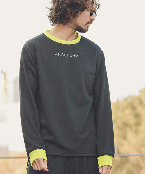 mlt2455-Rib Switch Smooth Long Sleeve Tee(MADE IN JAPAN) Tシャツ