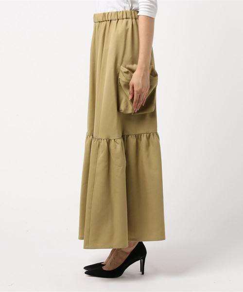 Dulcamara(ドゥルカマラ)の「よそいきティアードロングスカート-P -YOSOIKI-(スカート)」|詳細画像