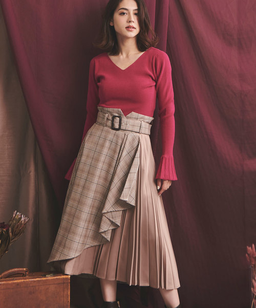 【今日の超目玉】 アシンメトリーラッププリーツスカート(スカート) Noela(ノエラ)のファッション通販, こだわり商事:f1327de3 --- fahrservice-fischer.de