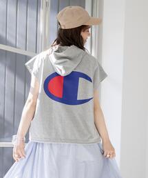 Champion(チャンピオン)FOODEDショートスリーブTシャツ(フーデット/フーディ)