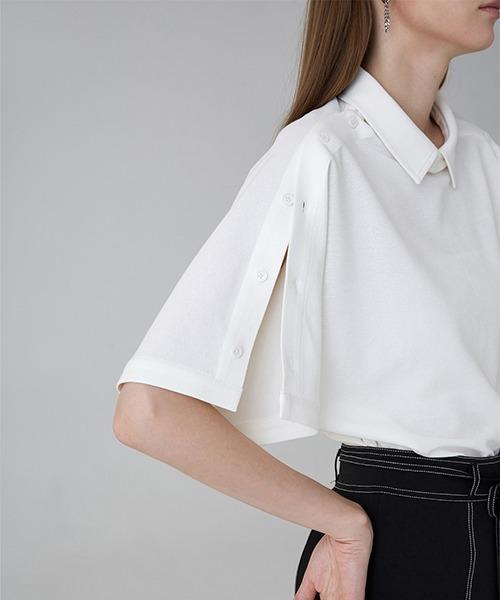 【UNSPOKEN】Slit flare sleeve cutsew FAZ18151