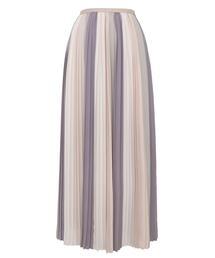 <Drawer(ドゥロワー)> シルクグラデーションプリーツスカート