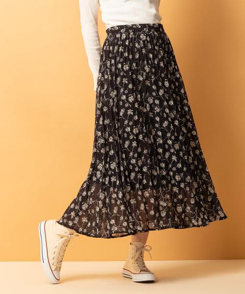 花柄ACプリーツスカート