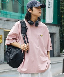 Mark Gonzales/マークゴンザレス MONO-MART別注 ビッグシルエット胸刺繍 半袖Teeライトピンク