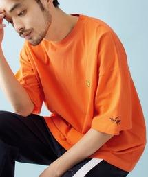 Mark Gonzales/マークゴンザレス MONO-MART別注 ビッグシルエット胸刺繍 半袖Teeオレンジ