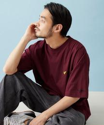 Mark Gonzales/マークゴンザレス MONO-MART別注 ビッグシルエット胸刺繍 半袖Teeボルドー