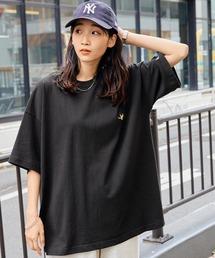 Mark Gonzales/マークゴンザレス MONO-MART別注 ビッグシルエット胸刺繍 半袖Teeブラック
