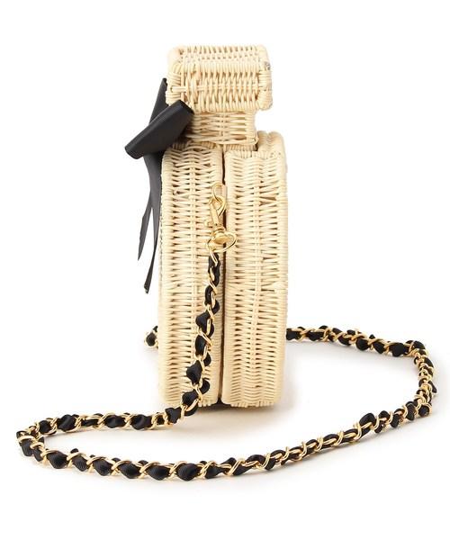 ラタン香水瓶型ショルダー