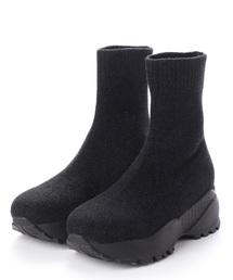EVOL(イーボル)のandGIRL掲載【EVOL】 ニットスニーカーブーツ IN9020(ブーツ)