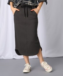 JET(ジェット)の【洗える】裾デザイン ウエストゴム裏毛スカート(スカート)