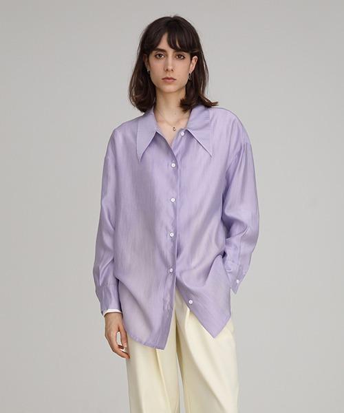 【UNSPOKEN】Big silhouette dress shirt FAZ19314chw