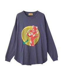 DREAMING GIRL オーバーサイズTシャツネイビー