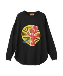 DREAMING GIRL オーバーサイズTシャツブラック