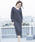 Emma Taylor(エマテイラー)の「【STYLEBAR】パールボタンボリュームスリーブドレス(ワンピース)」|ネイビー