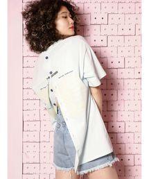 jouetie(ジュエティ)のバックオープンカラーT/デザイントップス/ビックシルエットカットソー(Tシャツ/カットソー)
