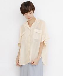 KBF(ケイビーエフ)のシアーオープンカラーシャツ(シャツ/ブラウス)