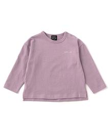 petit main(プティマイン)のベーシックワンポイントロゴ刺繍長袖Tシャツ(Tシャツ/カットソー)