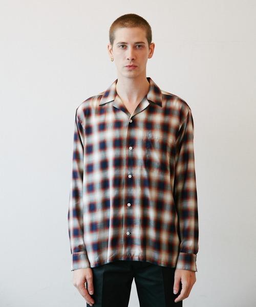 ROTTWEILER(ロットワイラー)の「C/R Check Open Collar LS Shirts(シャツ/ブラウス)」 レッド