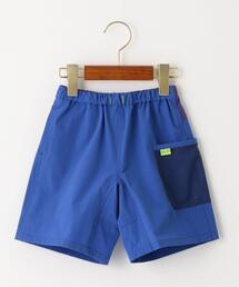 【キッズ】〔撥水加工〕〔UVカット〕メッシュポケットショートパンツ