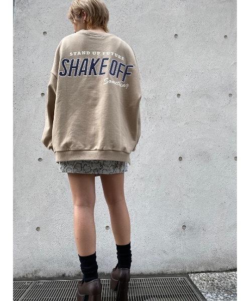one way(ワンウェイ)の「SHAKE OFFFプルオーバー(スウェット)」|ベージュ