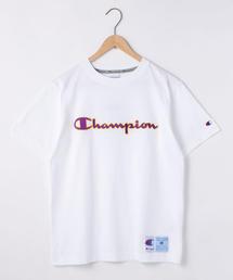 【WEB限定】Champion(チャンピオン)アクションスタイルスクリプトロゴ刺繍Tシャツ(C3-Q301)