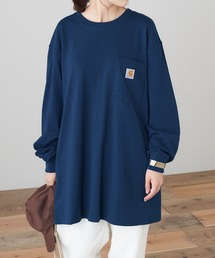 carhartt(カーハート) Workwear Pocket Long-Sleeve T-Shirts ポケットロングTシャツネイビー