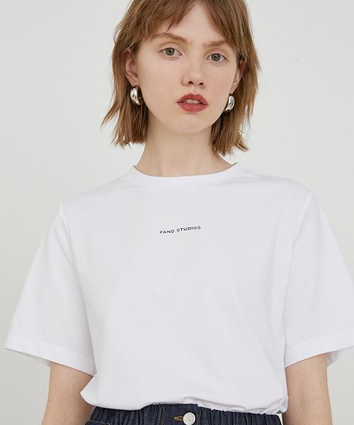【Fano Studios】【2021SS】Brand logo print T-shirt FA20S028