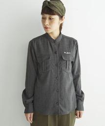 haco!(ハコ)のNUSY 刺しゅうロゴ入りワークシャツ<レディース/メンズ>(シャツ/ブラウス)