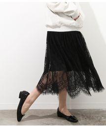 ViS(ビス)のチュールレース切替スカート(スカート)
