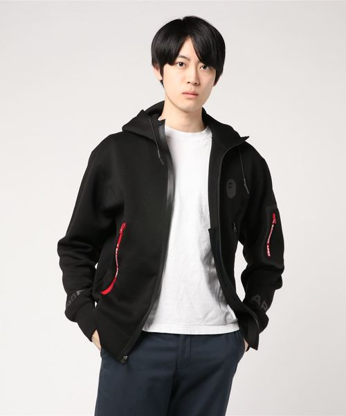 RELAXED DOUBLE KNIT FULL ZIP HOODIE M