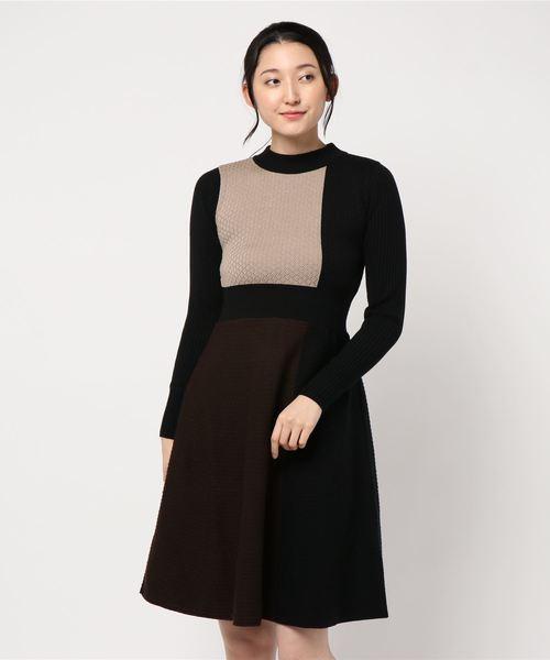 今季一番 ダイヤ柄インターシャ編みワンピース(ワンピース)|PICCIN(ピッチン)のファッション通販, 韓国商品館:ed5a96c6 --- 5613dcaibao.eu.org