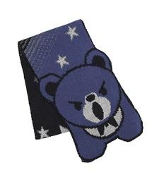 HYSTERIC BEAR マフラーブルー