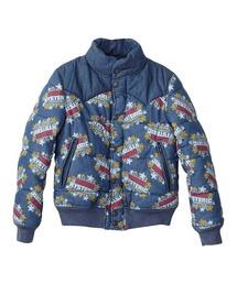 SUPER HYSTERIC柄 デニムスキージャケットインディゴブルー