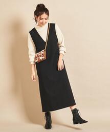 【予約】BY Vネックジャンパースカート