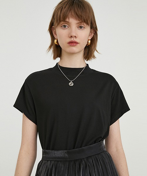 【Fano Studios】【2021SS】Short high neck simple T-shirt FA20S050