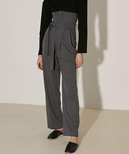 【UNSPOKEN】Super high-waist pants FAZ20063chw