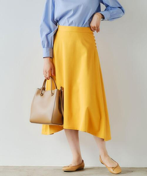Bサージ サイドヘム フレア スカート