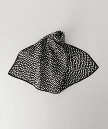 UBBT ギンガムチェック スカーフ 63×63 ◆