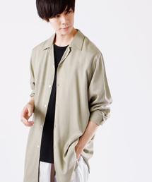 MONO-MART(モノマート)のブライトレーヨンL/Sリラックスオープンカラーシャツ(MONO-MART)(シャツ/ブラウス)
