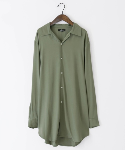 ブライトレーヨンL/Sリラックスオープンカラーシャツ(MONO-MART)